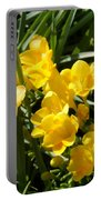 Very Sunny Yellow Flowers Portable Battery Charger