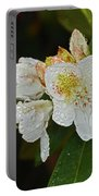 Very Wet Flower Portable Battery Charger