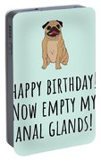 Veterinarian Birthday Card - Veterinary Greeting Card - Empty My Anal Glands - Pug Birthday Card Portable Battery Charger