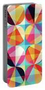 Vibrant Geometric Abstract Triangles Circles Squares Portable Battery Charger