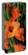 Vibrant Gladiolus Portable Battery Charger