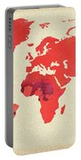 Vibrant Hot Watercolor World Map Portable Battery Charger