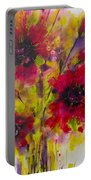 Vibrant Pink Poppies Portable Battery Charger