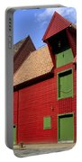 Vibrant Red And Green Building Portable Battery Charger