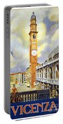 Vicenza Italy Travel Poster Portable Battery Charger