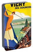 Vichy, Sport Tourism, Woman Play Golf Portable Battery Charger