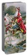 Victorian Christmas Card Depicting Saint Nicholas Portable Battery Charger