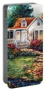 Victorian House With Gardens Portable Battery Charger