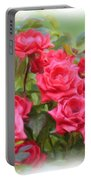 Victorian Rose Garden - Digital Painting Portable Battery Charger