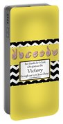 Victory - Bw Graphic Portable Battery Charger