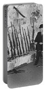 Viet Nam Vet John Dane With His Weapons Collection American Fork Utah 1975 Portable Battery Charger