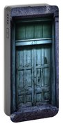 Vieux Carre' Doorway At Night Portable Battery Charger