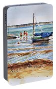 View Across Provincetown Harbor Portable Battery Charger