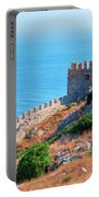 View Far Out To Sea From Alanya Castle Portable Battery Charger