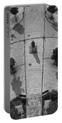 View From A Church Tower Monochrome Portable Battery Charger