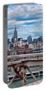 View From Brooklyn Bridge Portable Battery Charger