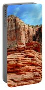 View From Canyon Overlook In Zion National Park Portable Battery Charger