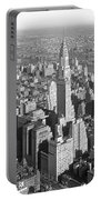 View From Empire State Bldg. Portable Battery Charger