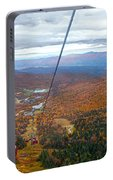 View From Mount Mansfield In Autumn Portable Battery Charger