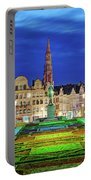 View Of Brussels From Jardin Du Mont Des Arts Portable Battery Charger by Barry O Carroll