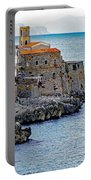 View Of Cefalu Sicily Portable Battery Charger