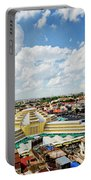 View Of Central Market Landmark In Phnom Penh City Cambodia Portable Battery Charger