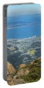 View Of City From Mountain Top Portable Battery Charger