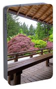 View Of Japanese Garden From The Veranda Portable Battery Charger