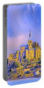 View Of Mont Saint Michel Portable Battery Charger