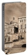 View Of Montgomery County Courthouse From The Southside In Sepia Portable Battery Charger