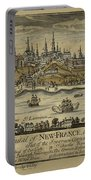 View Of Quebec City 1759 Portable Battery Charger
