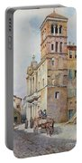 View Of Santa Maria In Monticelli, Rome  Portable Battery Charger