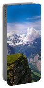 View Of The Swiss Alps Portable Battery Charger