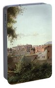 View Of The Colosseum From The Farnese Gardens Portable Battery Charger