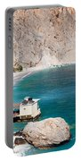 View Of The Glikanera Beach, Hora Portable Battery Charger