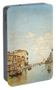 View Of The Grand Canal Of Venice Portable Battery Charger