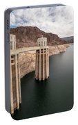 View Of The Hoover Dam Lake With Low Water Reserves Portable Battery Charger