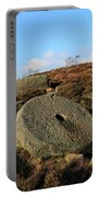 View Of The Mother Cap Gritstone Rock Formation, Millstone Edge Portable Battery Charger