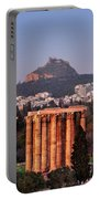 View Of The Temple Of Olympian Zeus And Mount Lycabettus In The  Portable Battery Charger
