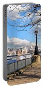 View Of The Thames Portable Battery Charger