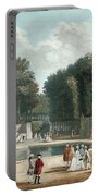 View Of The Tuileries Garden Portable Battery Charger