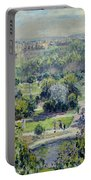 View Of The Tuileries Gardens Portable Battery Charger by Claude Monet
