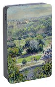 View Of The Tuileries Gardens Portable Battery Charger