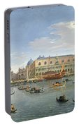 View Of Venice From The Island Of San Giorgio Portable Battery Charger