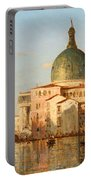View Of Venice With San Simeone Piccolo Portable Battery Charger