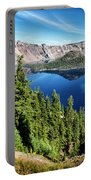 View Of Wizard Island Crater Lake Portable Battery Charger