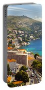 View Over Dubrovnik Coastline Portable Battery Charger