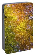 View To The Top Of Beech Trees Portable Battery Charger