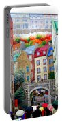Viewing A Mural At La Fresque Des Quebecois Portable Battery Charger
