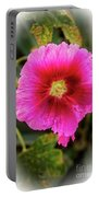 Vigenetted Hollyhock Portable Battery Charger